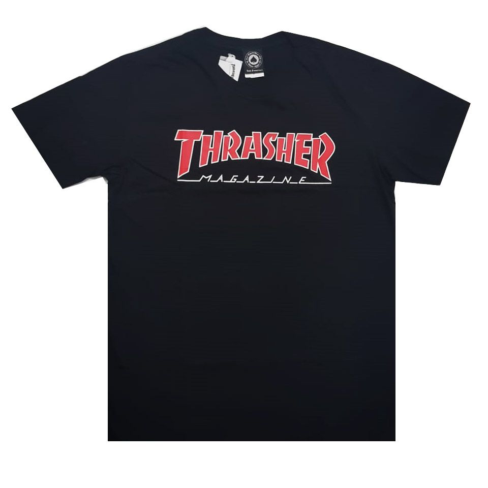 Camiseta Thrasher Magazine Outlined Black