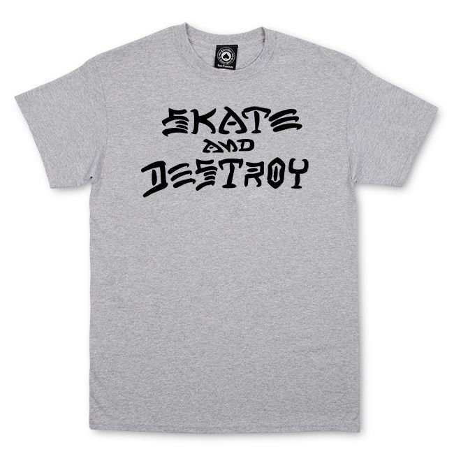 Camiseta Thrasher Magazine Skate And Destroy Grey
