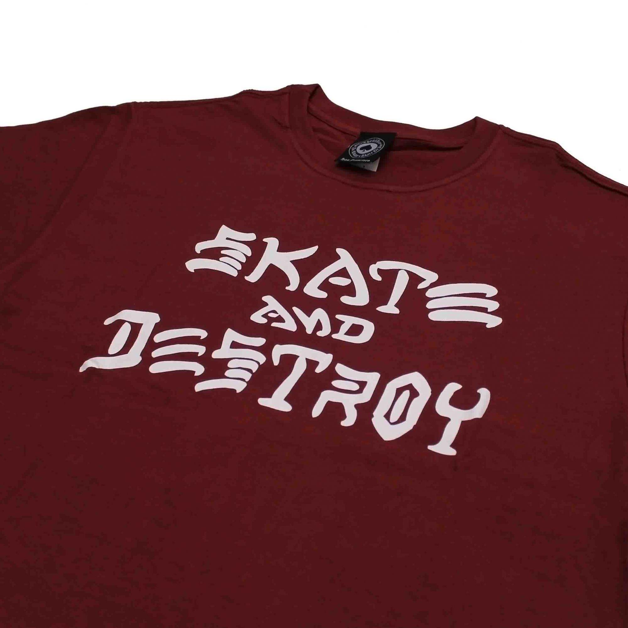 Camiseta Thrasher Magazine Skate and Destroy Vinho