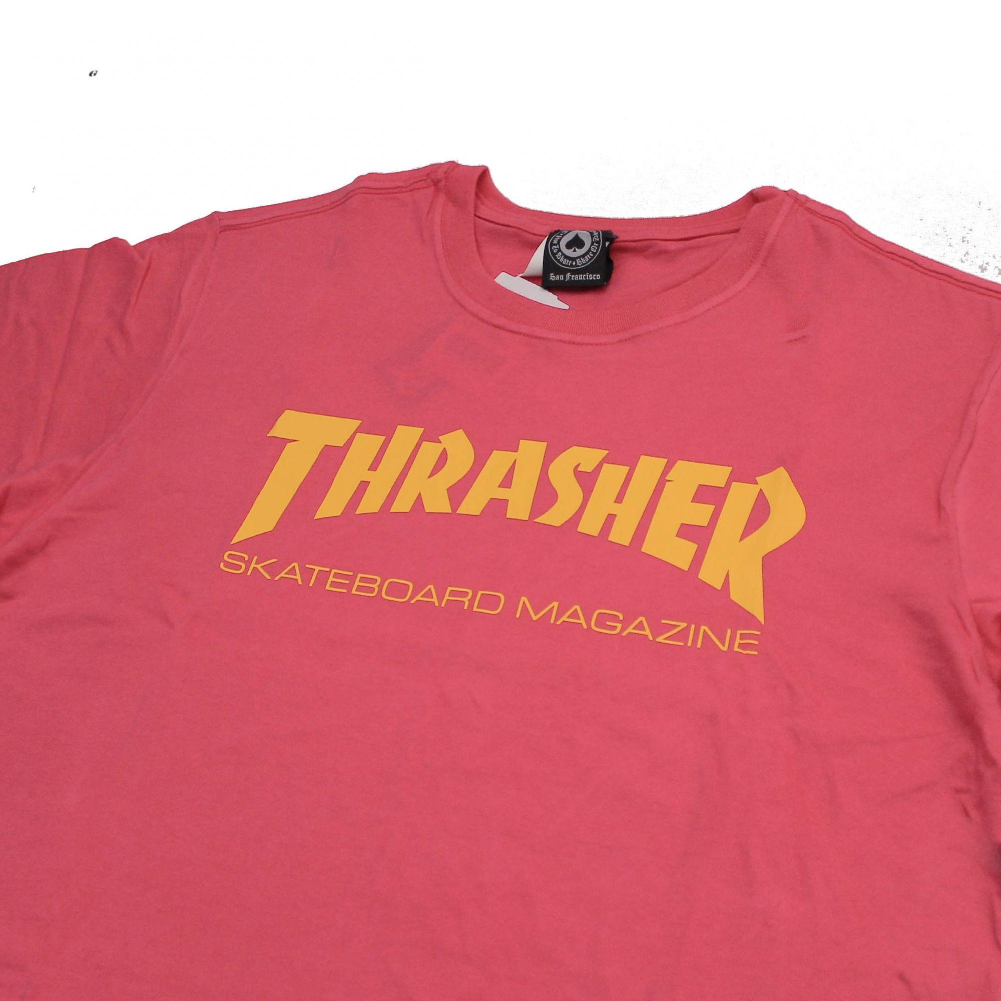 Camiseta Thrasher Magazine Skate Mag Rosa Pink