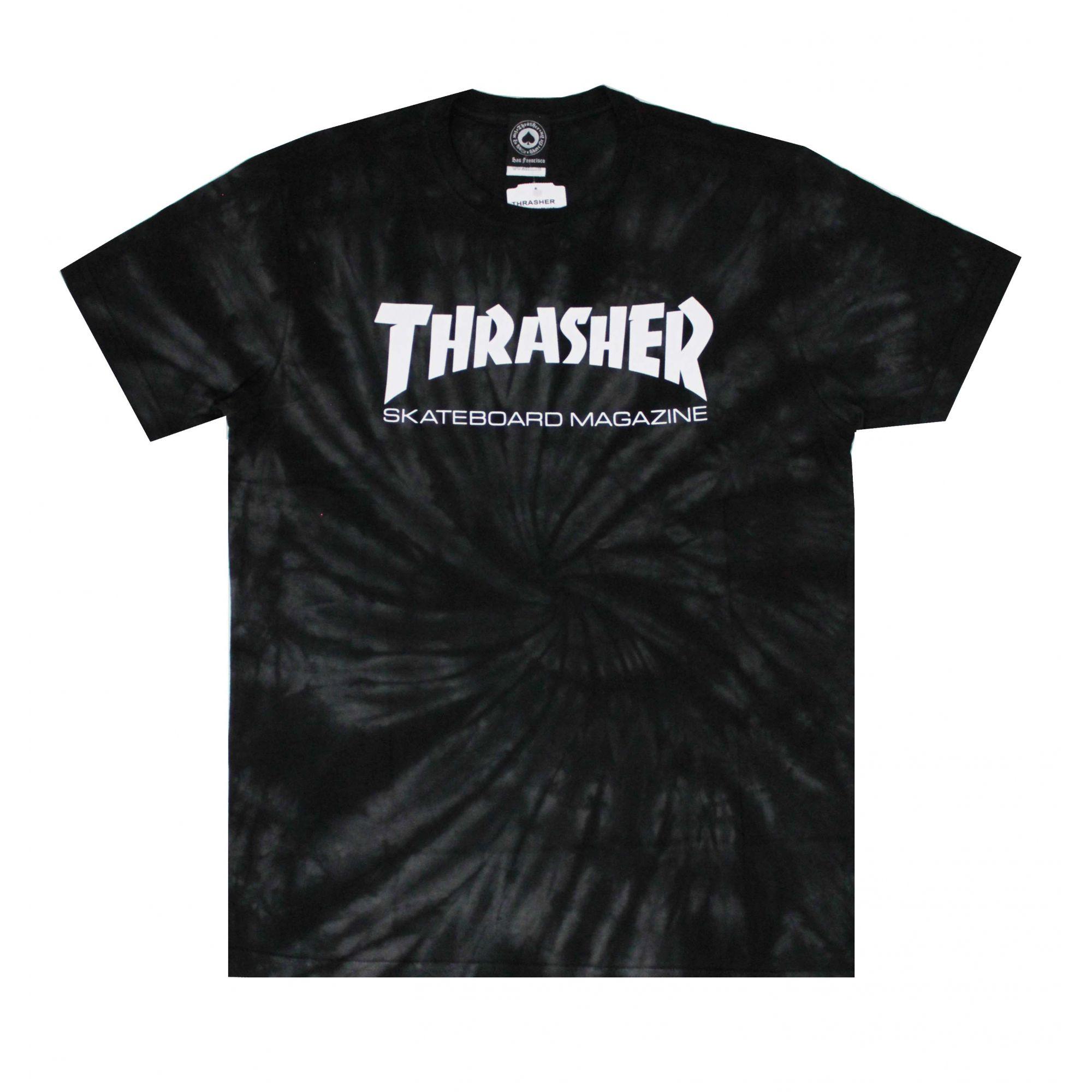 Camiseta Thrasher Magazine Skate Mag Tie Dye Preto