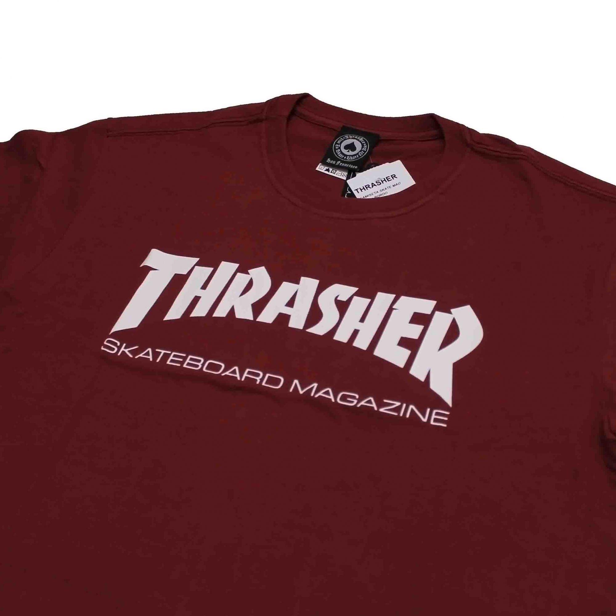 Camiseta Thrasher Magazine Skate Mag Vinho