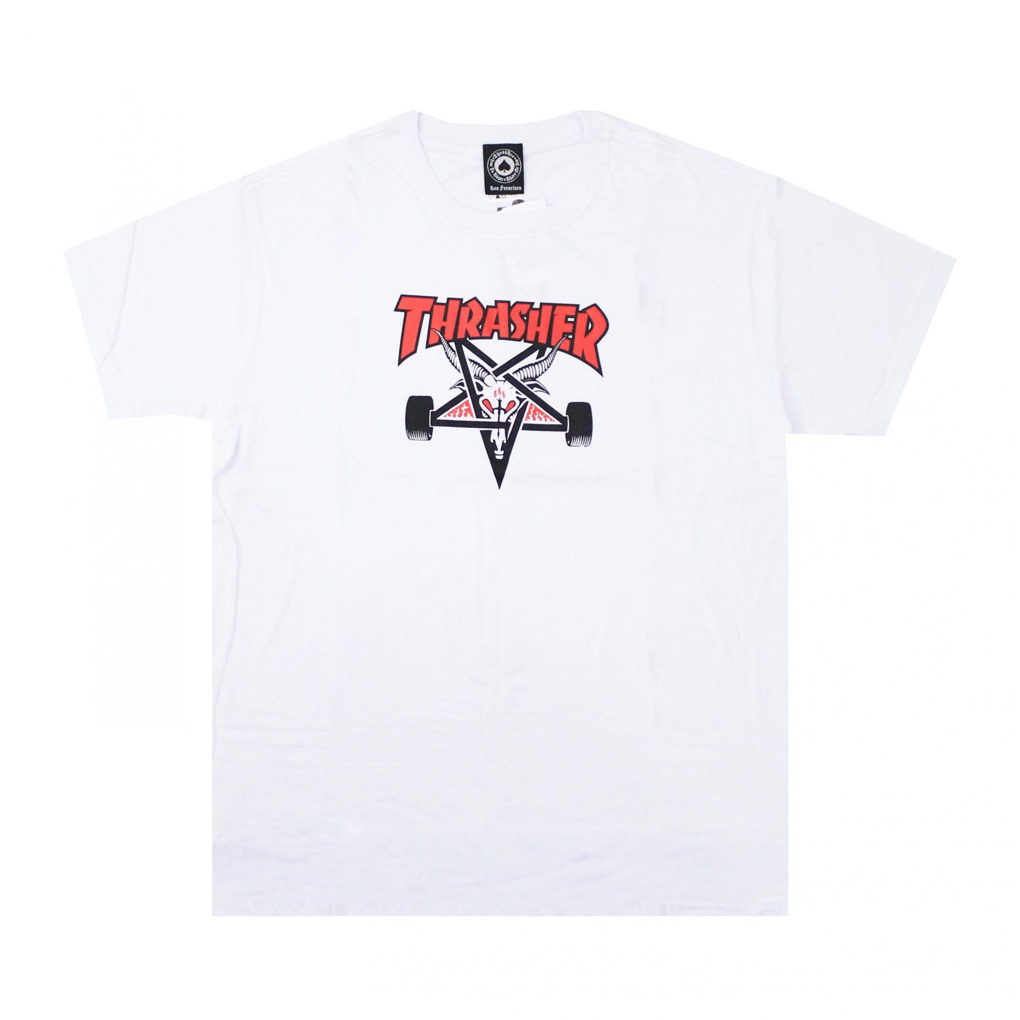 Camiseta Thrasher Magazine Two Tone Skate Goat Branco