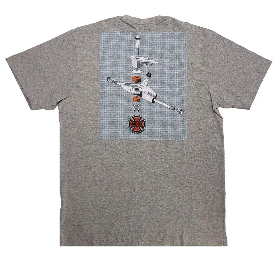 Camiseta Thrasher Magazine x Independent Build To Grind Grey