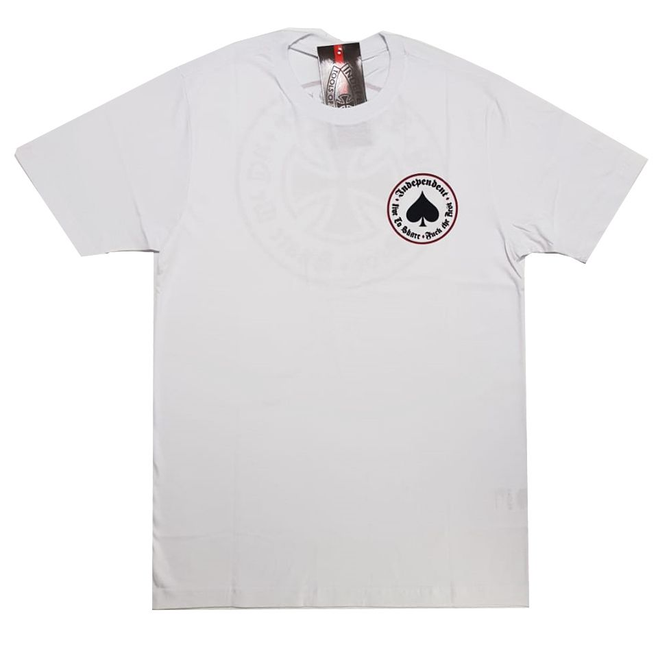 Camiseta Thrasher Magazine x Independent Oath White