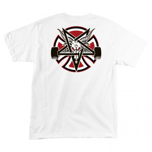 Camiseta Thrasher Magazine x Independent Pentagram Cross White