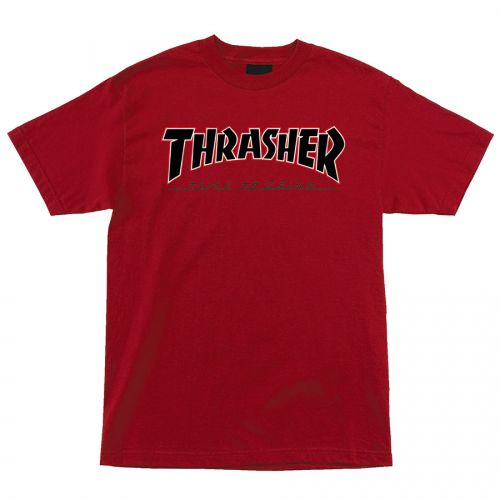 Camiseta Thrasher Magazine x Independent Time To Grind Vermelha