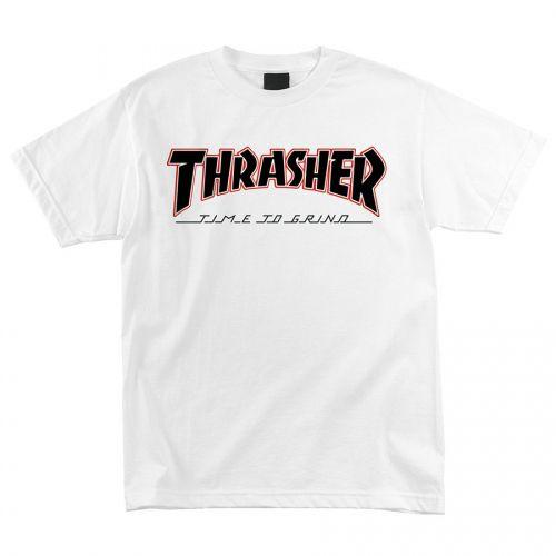 Camiseta Thrasher Magazine x Independent Time To Grind White