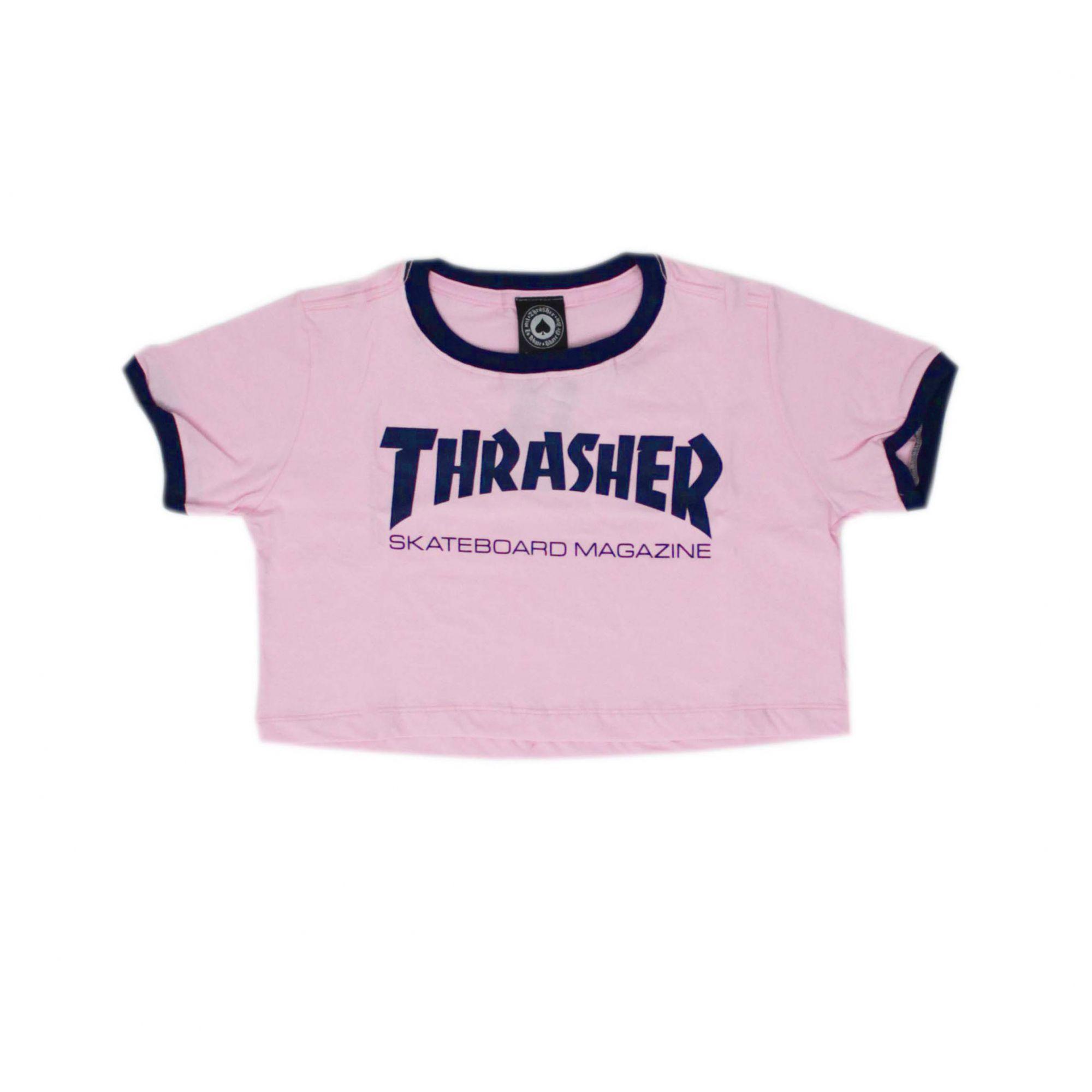 Cropped Thrasher Magazine Skate Mag Rosa/Azul