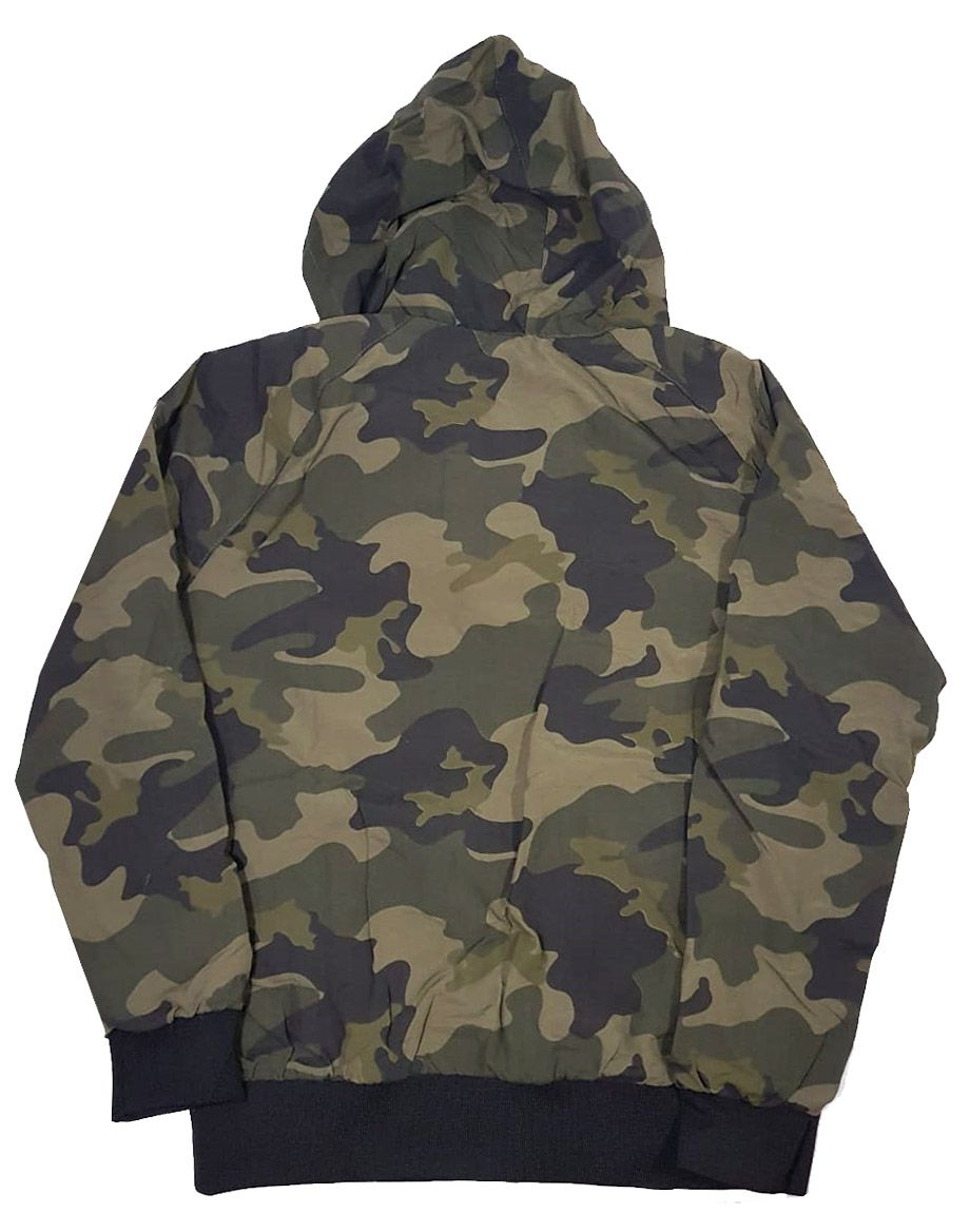 Jaqueta Corta Vento Black Sheep Logo Camo Dark Green