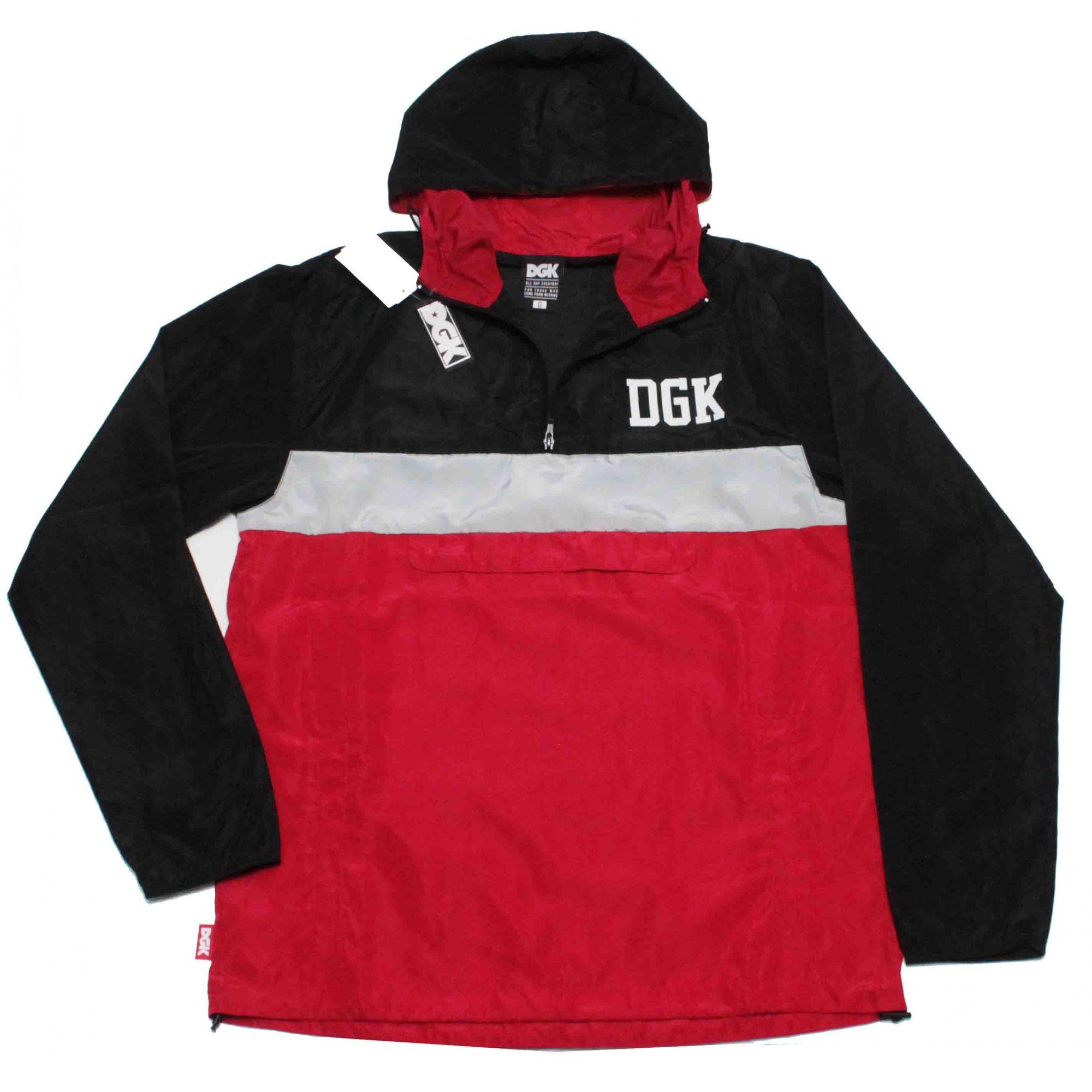 Jaqueta Corta Vento DGK Blocked Black/Grey/Red