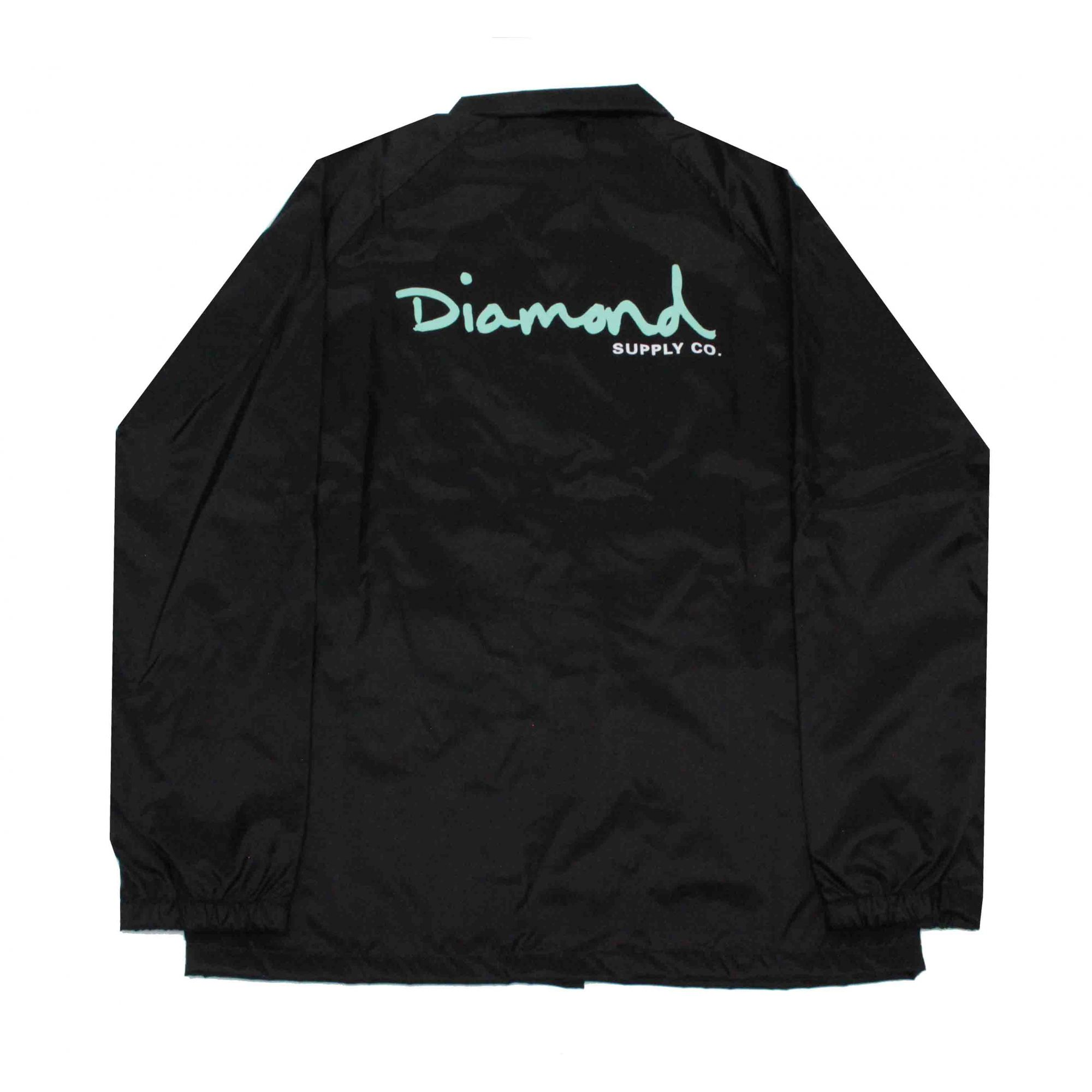 Jaqueta Corta Vento Diamond Og Script Black