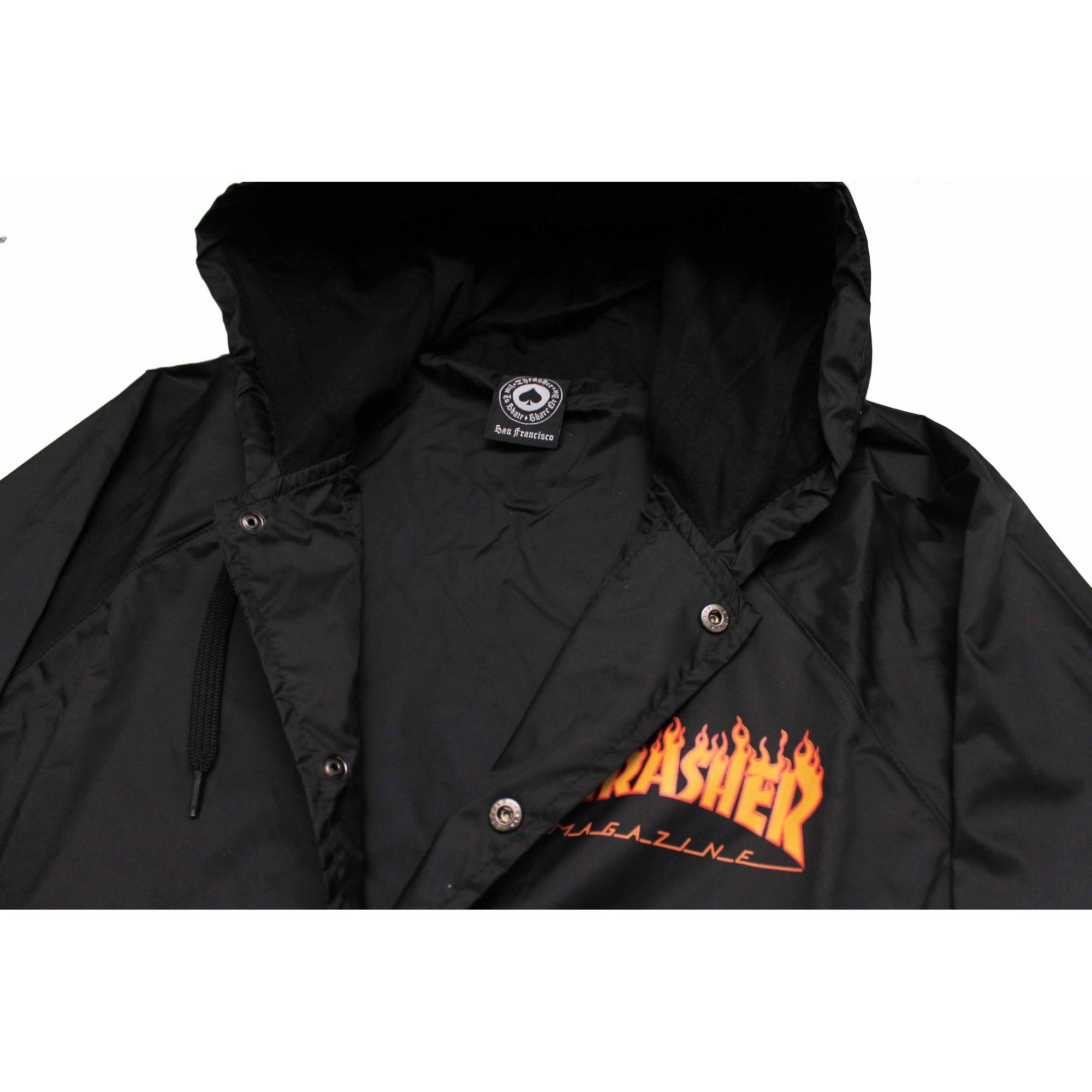 Jaqueta Corta Vento Thrasher Magazine Mini Flame Black