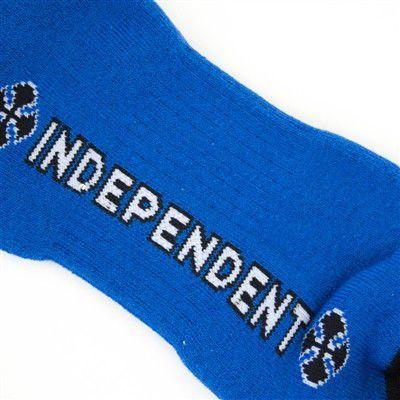 Meia Independent Cano Médio Printed Stripe Azul