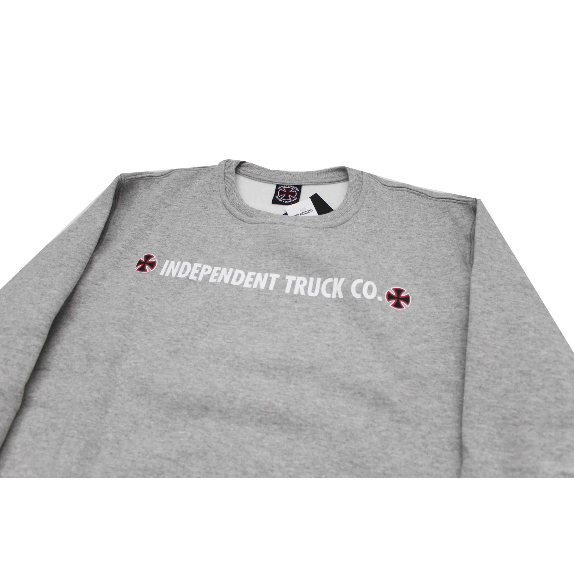 Moletom Independent Crewneck Guide Grey