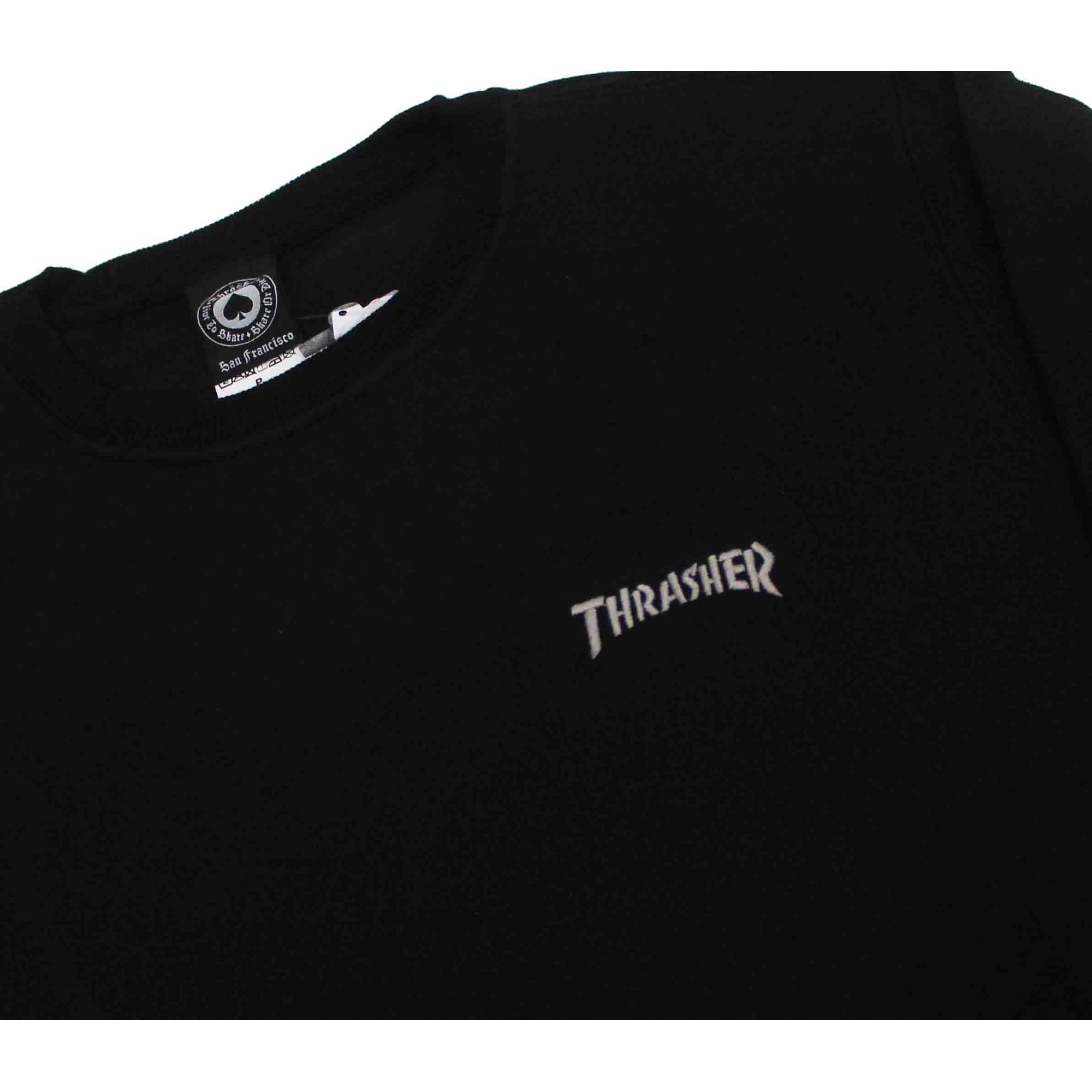 Moletom Thrasher Magazine Mini Logo Crewneck Black
