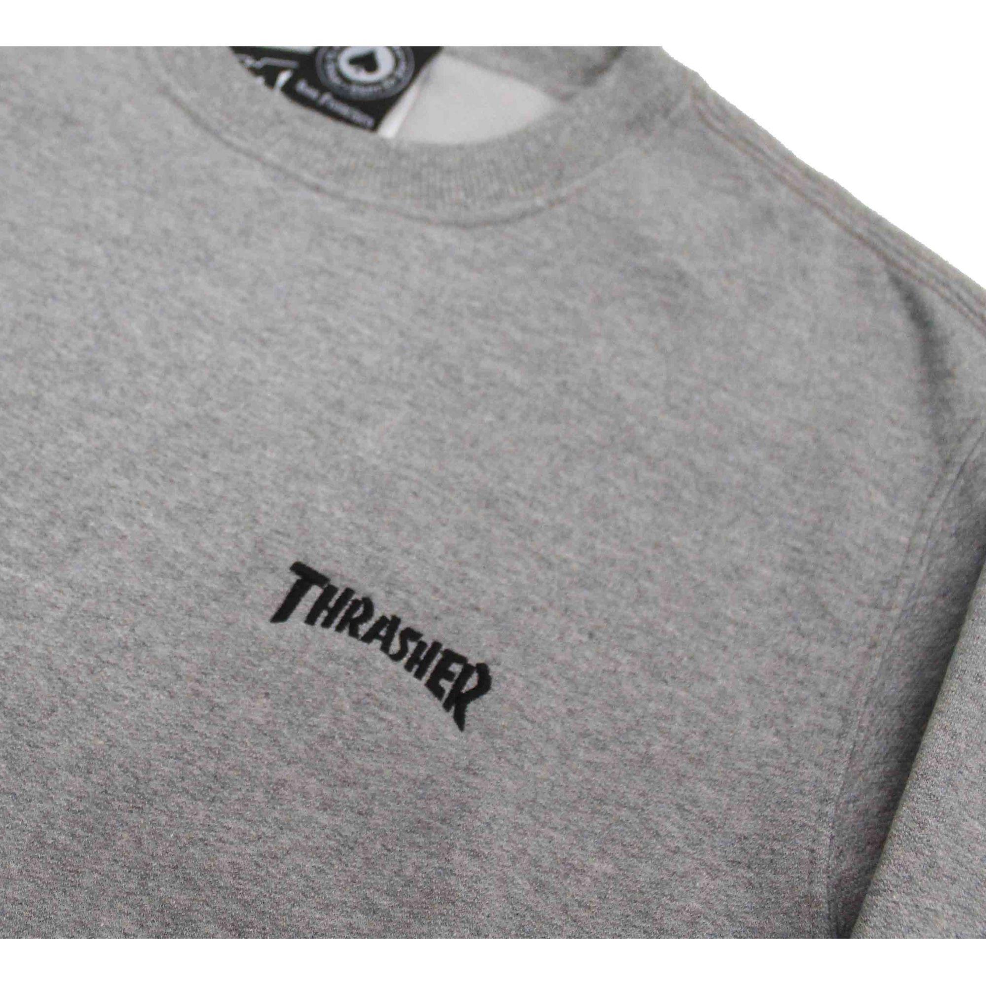 Moletom Thrasher Magazine Mini Logo Crewneck Grey