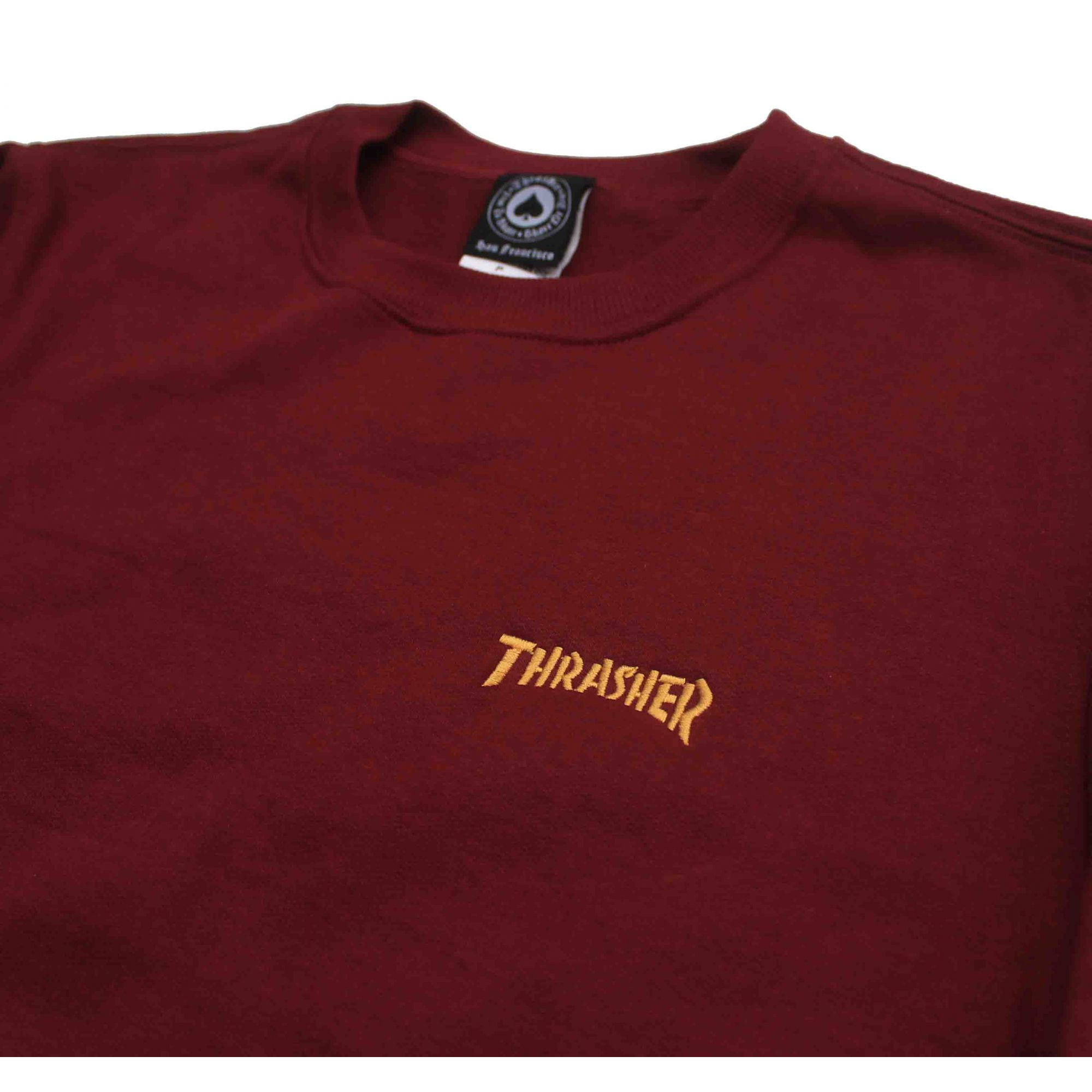 Moletom Thrasher Magazine Mini Logo Crewneck Wine