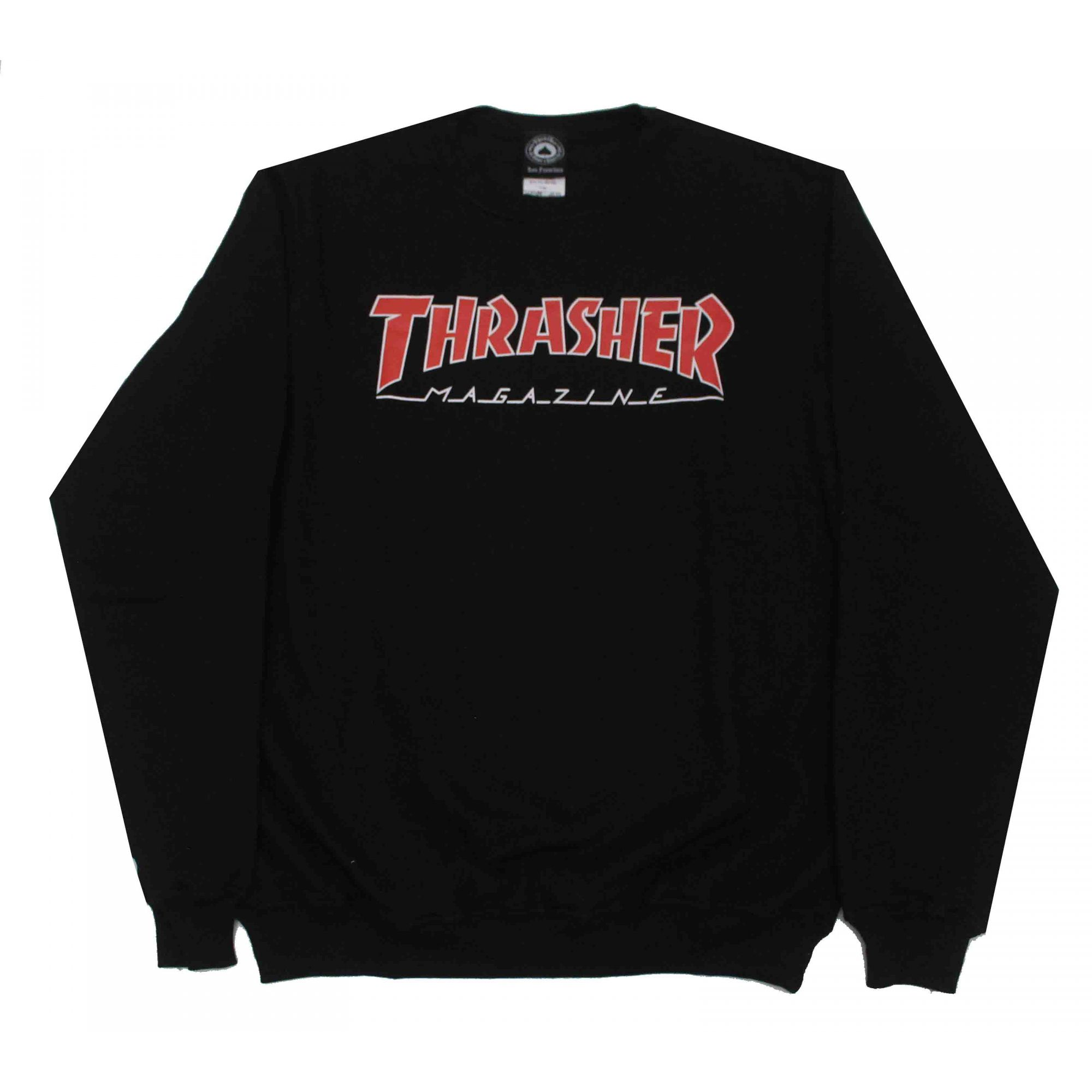 Moletom Thrasher Magazine Outlined Crewneck Black