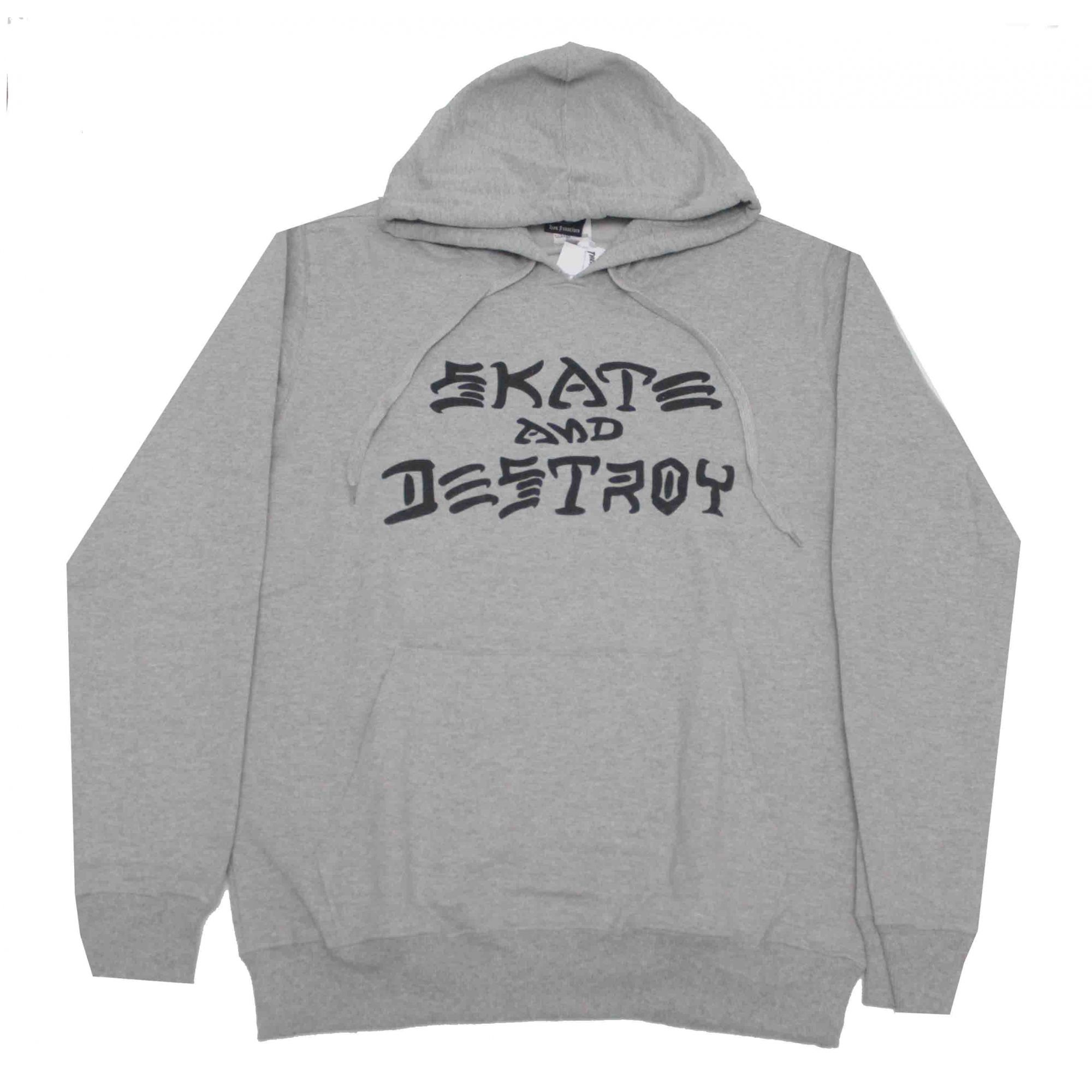 Moletom Thrasher Magazine Skate and Destroy Hoodie Grey