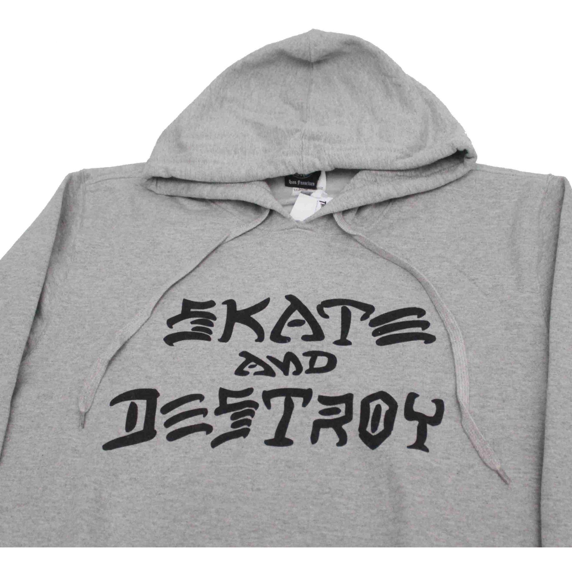 Moletom Thrasher Magazine Skate and Destroy Hoodie Grey