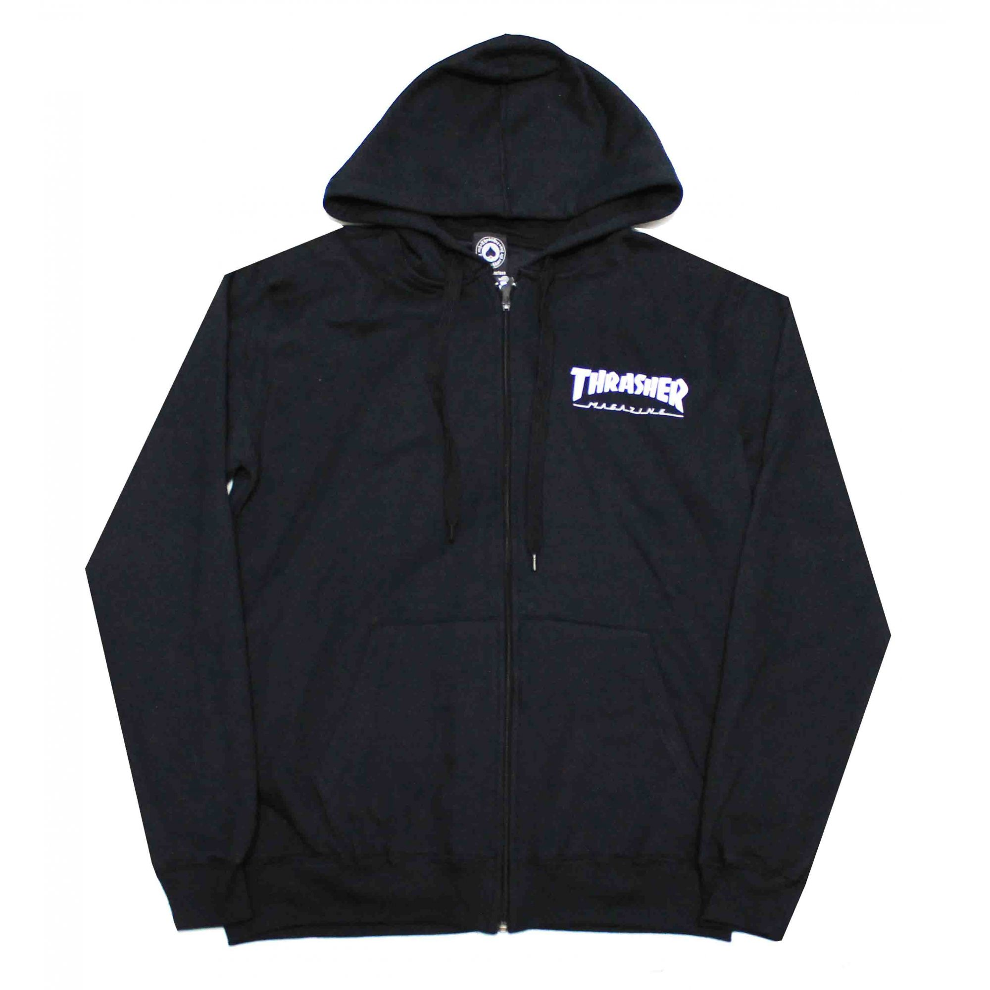 Moletom Thrasher Magazine Zipper Mini Skate Mag Hoodie Black