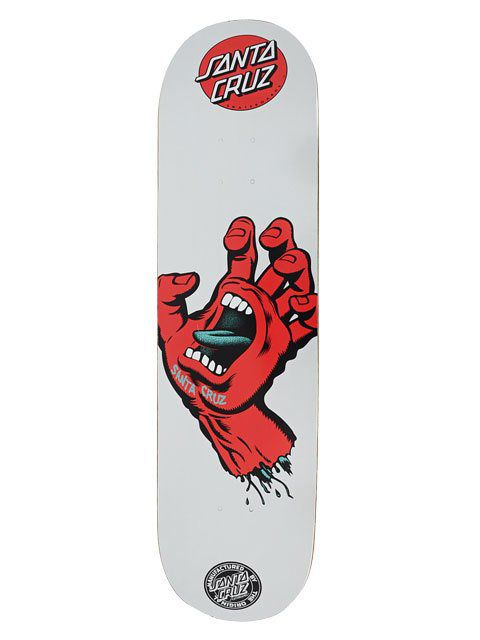 "Shape Santa Screaming Hand Metalic Cinza/Vermelho - 8.75"""