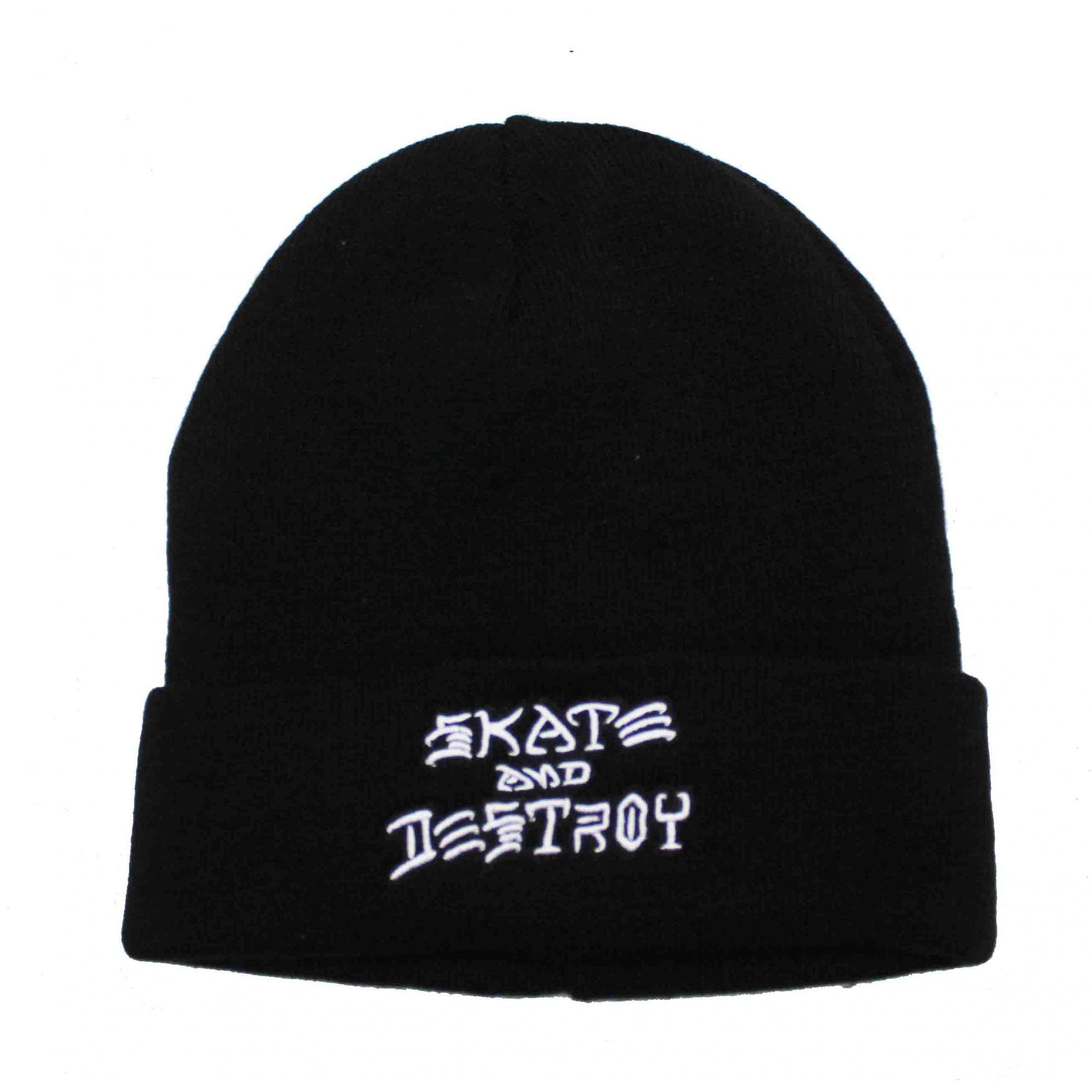 Touca Thrasher Magazine Skate and Destroy  Embroidery Preto