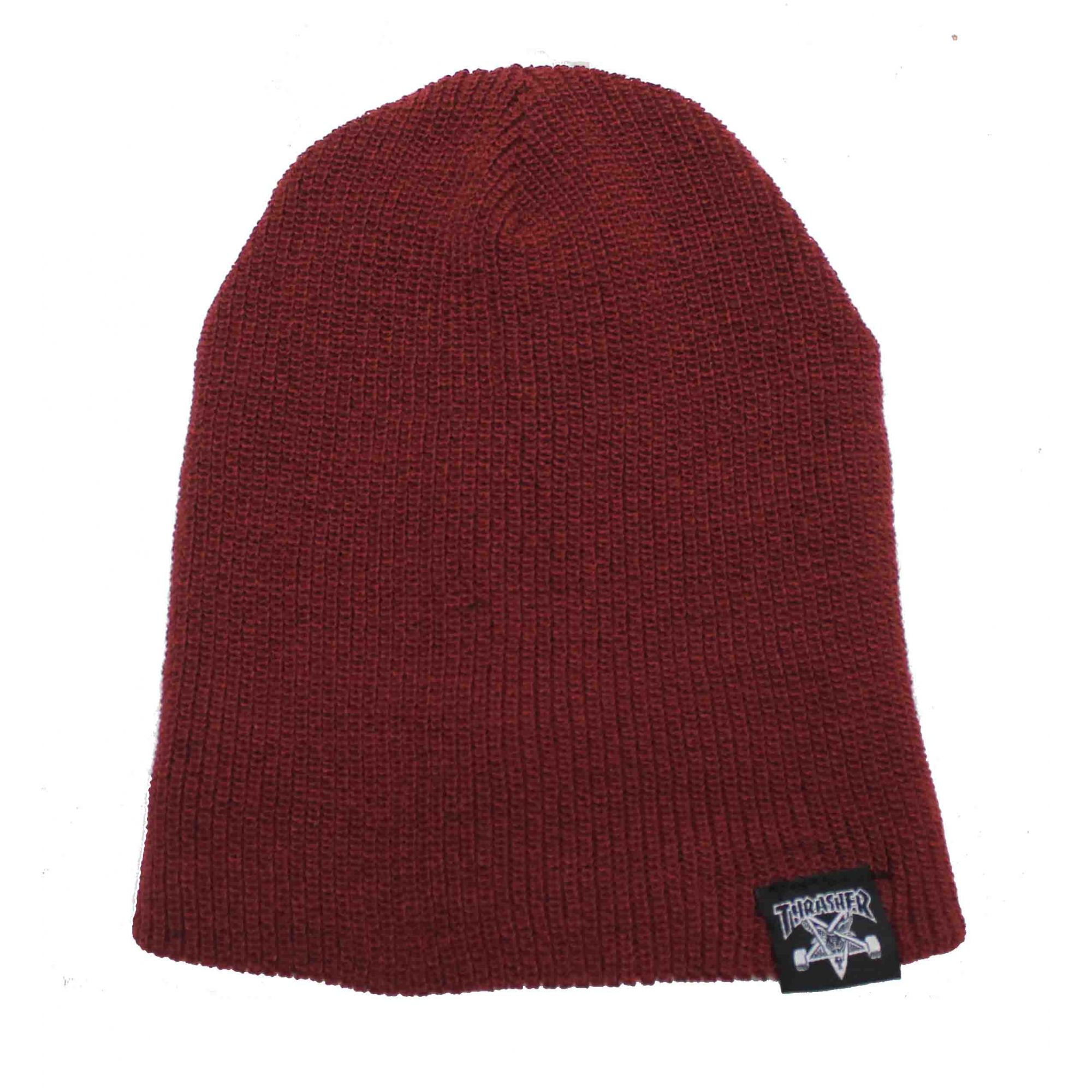 Touca Thrasher Magazine Skate and Destroy/Goat Beanie Wine