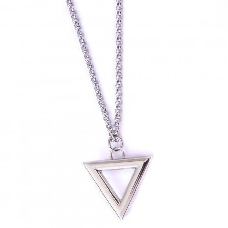 Corrente Aço Inoxidável Triângulo Prata