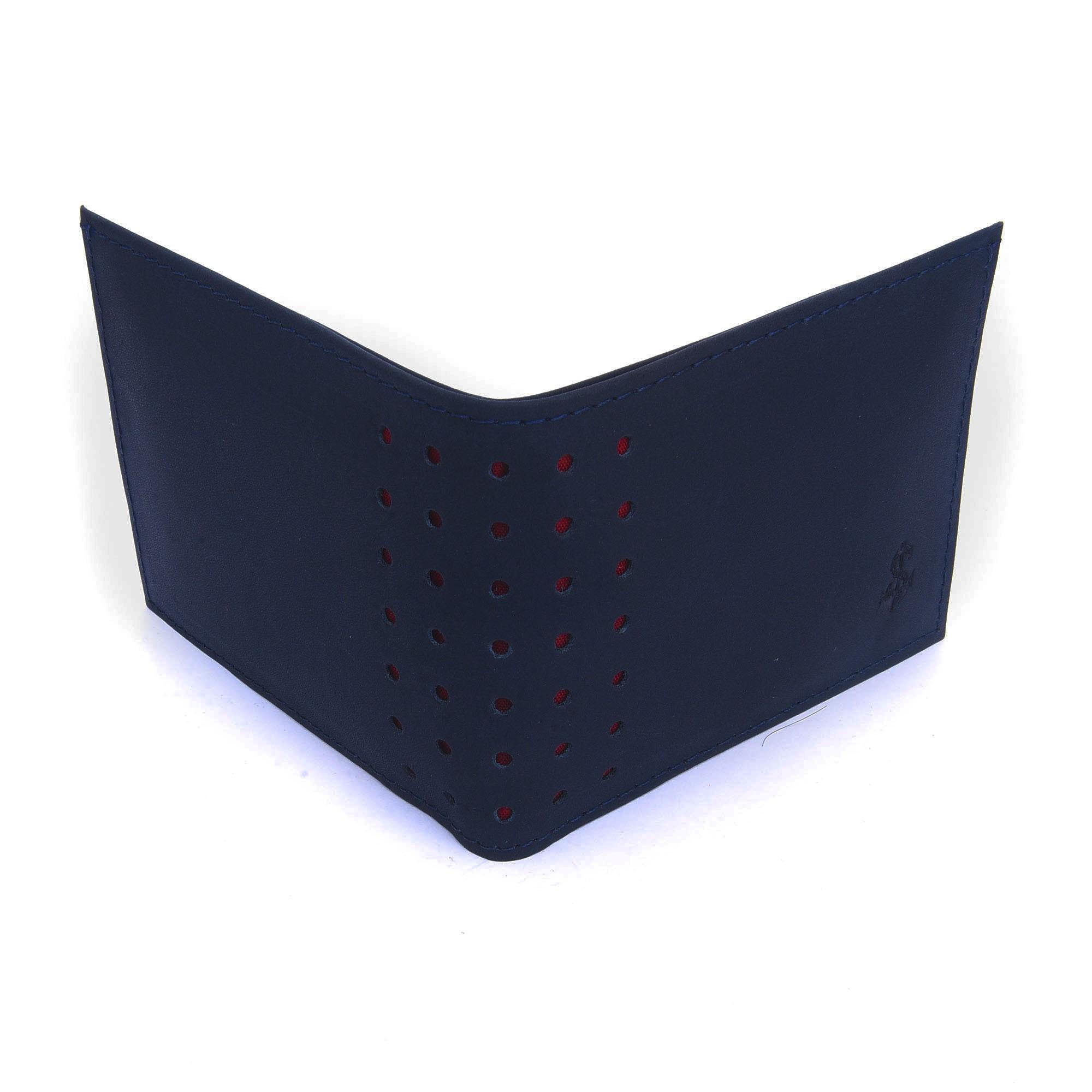 Carteira Classic De Couro Legítimo Azul  - Style Empório