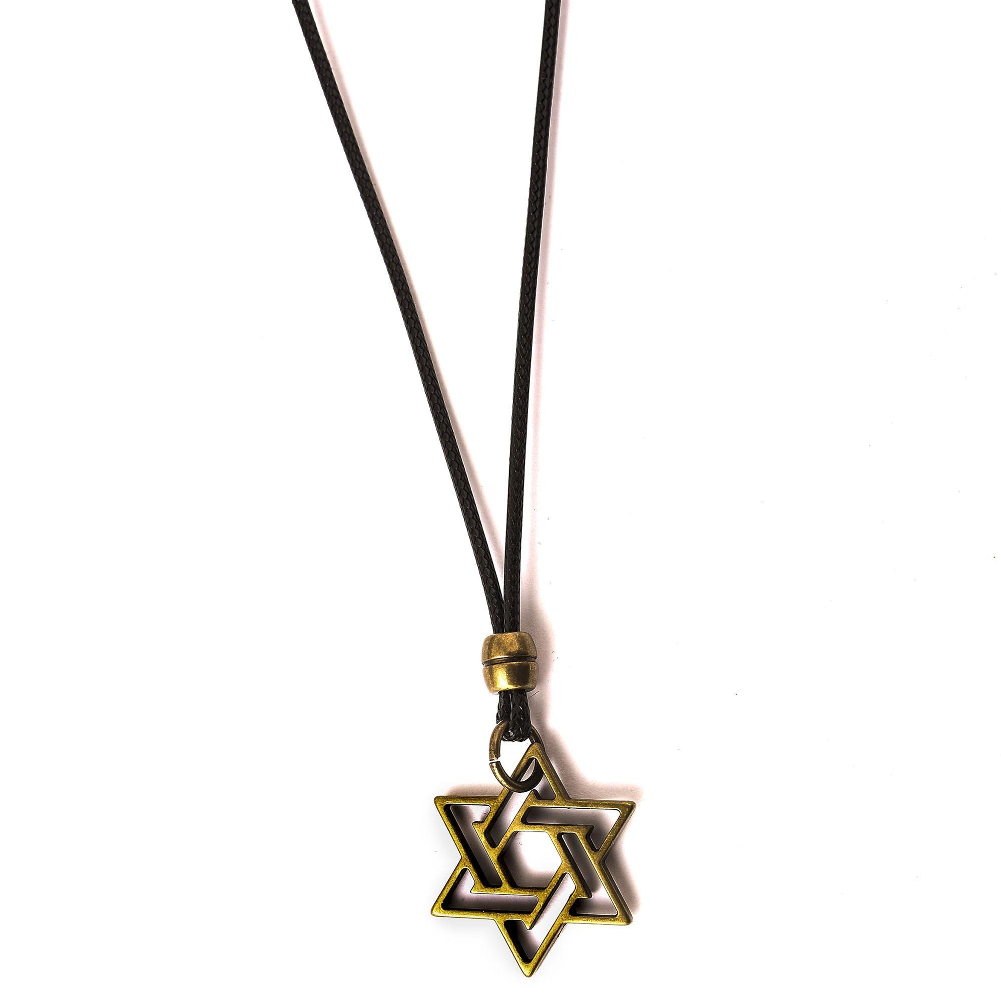 Colar Estrela De Davi Ouro Velho Ajustável  - Style Empório