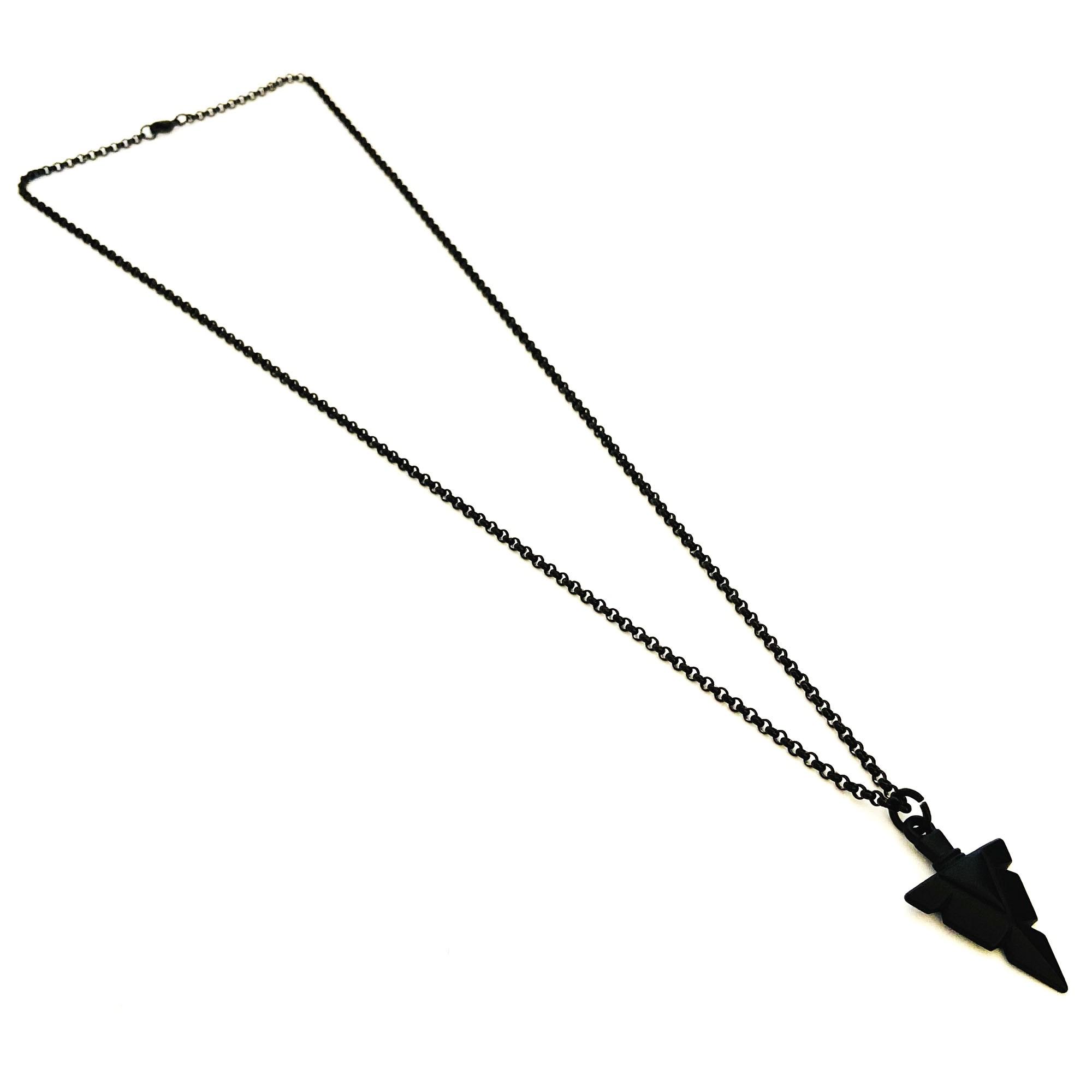 Corrente Aço Inoxidável Ponta de Flecha Black  - Style Empório