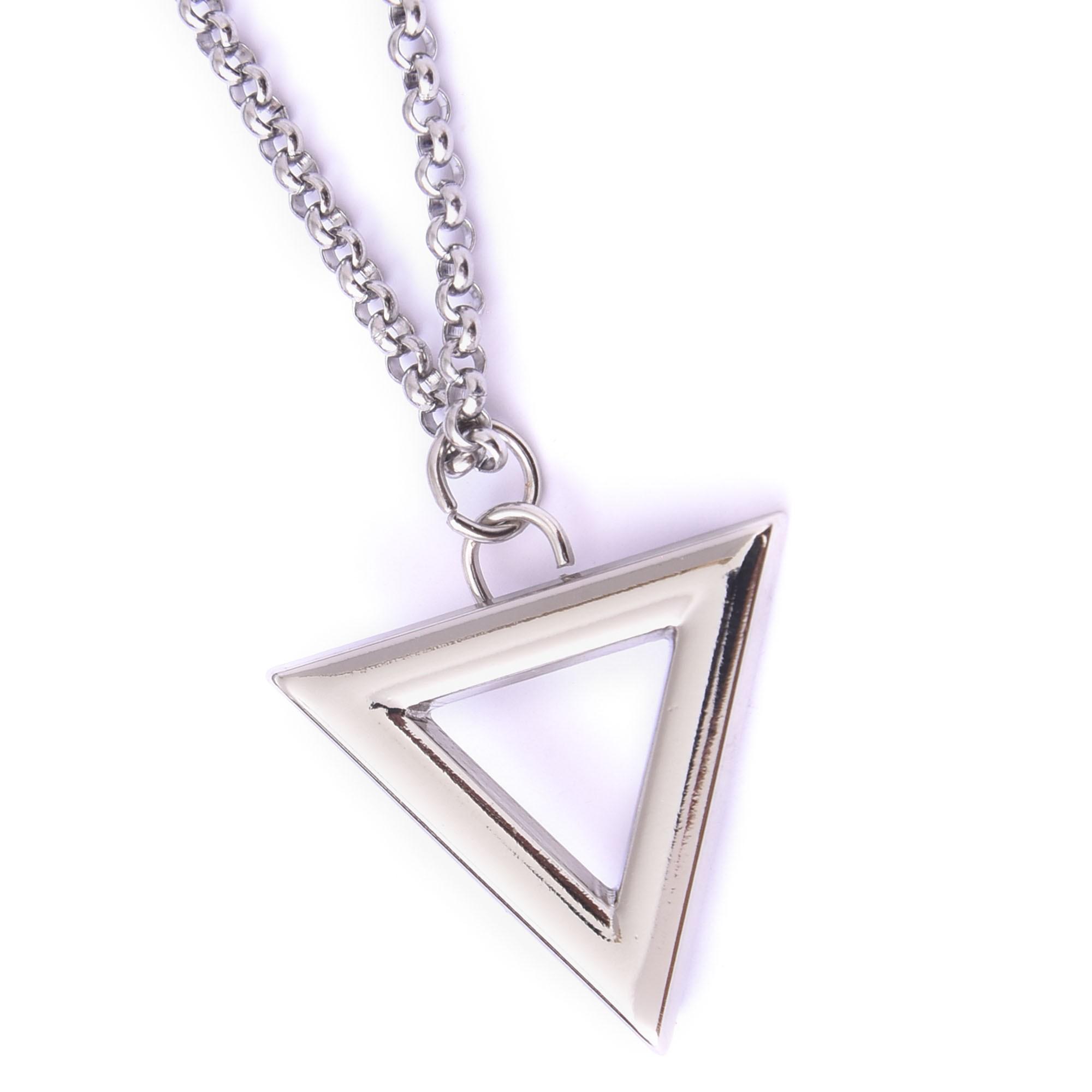 Corrente Aço Inoxidável Triângulo Prata  - Style Empório