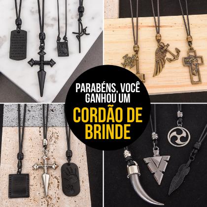 Na compra de 3 produtos ou mais, GANHE 1 CORDÃO + FRETE GRÁTIS (Informe o cordão na observação do pedido)  - Style Empório