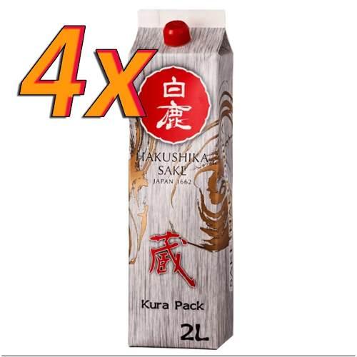 Sake Saque Premium Hakushika Japones Kurapack 4x2l