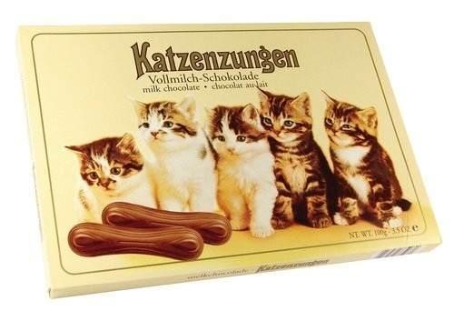 Lingua De Gato Chocolate Ao Leite Alemão Importado 100gr Dc