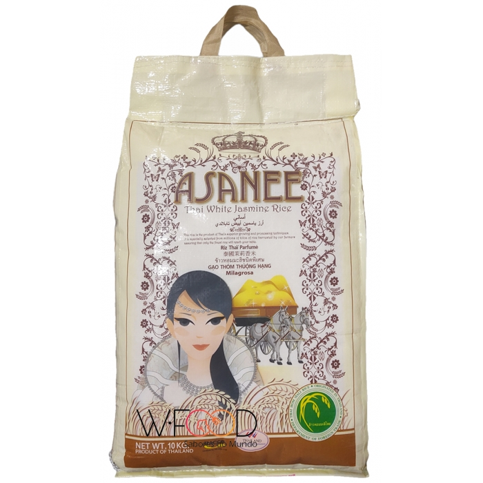 Arroz Jasmine Aromático Asanee Tailandes 10kgs