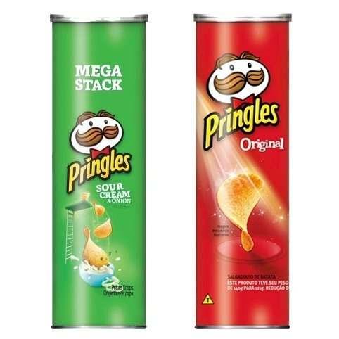 Combo Batatas Pringles Original 121gr Cebola 128gr