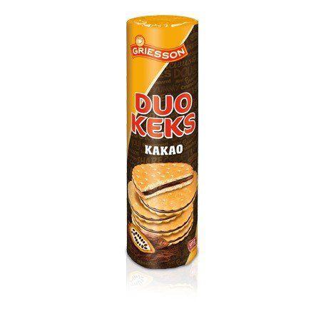 Biscoitos Alemães Recheados com Chocolate Duo Keks Griesson 500g