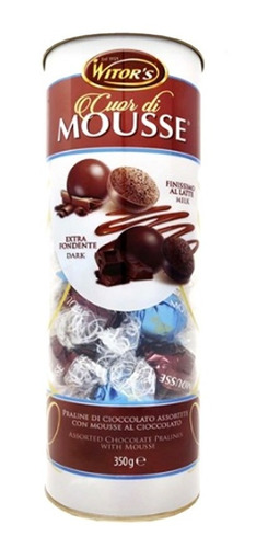 Bombons Chocolate Italiano Cuor Di Mousse Witor's 350gr