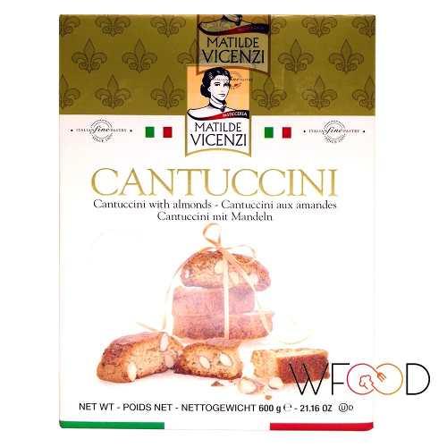 Caixa Biscoito Cantuccini Vicenzi Italiano Amendoas 600gr