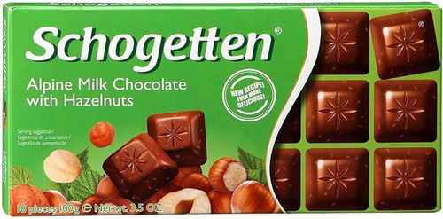 Chocolate Schogetten Com Avelãs 100g Alemanha