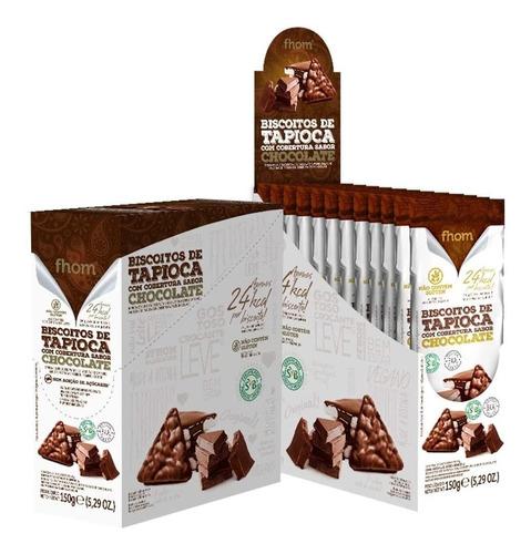 Display Biscoito De Tapioca Com Chocolate Trio Fhom 10x15g