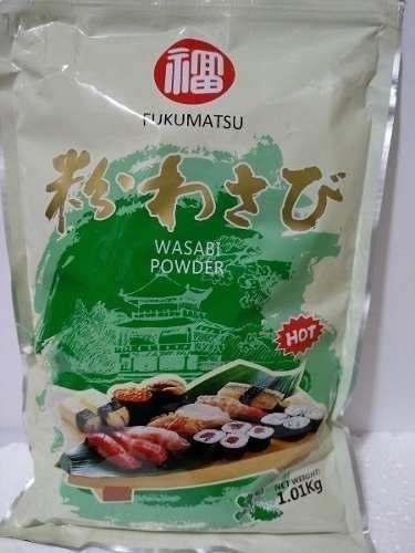 Fukumatsu Pó Wasabi Powder 1kg Importado Com Zip Lock