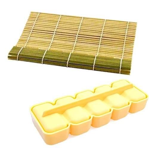Kit Esteira Sushi Bambu Sudare + Forma Niguiri Prática Ut Jp