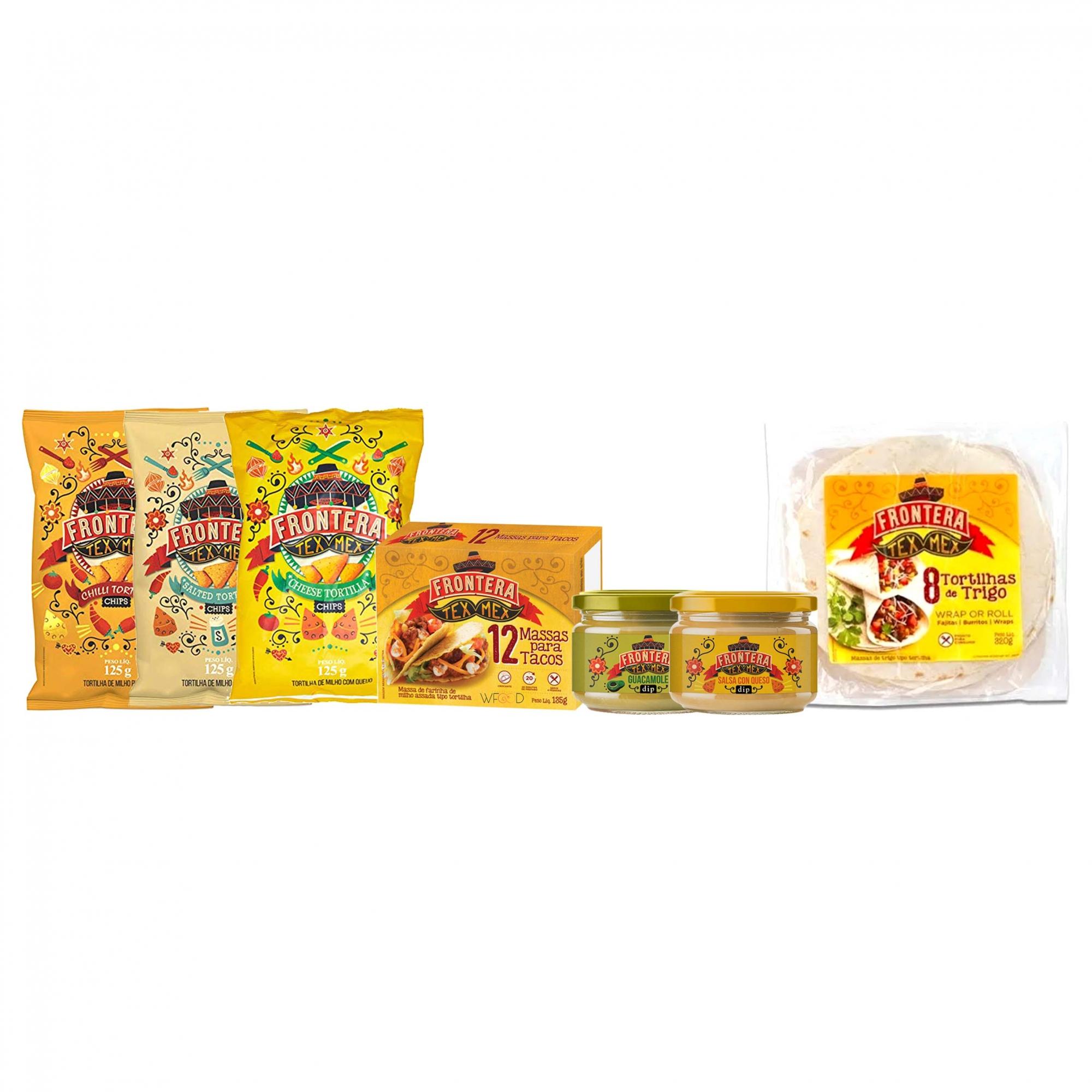 Kit Jantar Mexicano Completo Para 4 Pessoas com 7 Itens