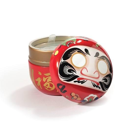 Lindo Pote Chá Japonês Daruma Metal Lacre Interno 100gr