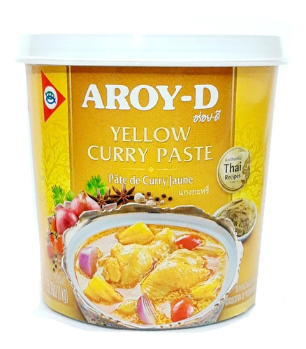 Pasta Curry Amarelo Aroy-d Tailandes Thai 400gr Th