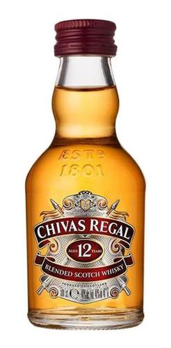 Whisky Chivas Regal 12 Anos Miniatura 50ml